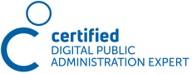 Zertifikat für KMU Digital als Certified Digital Public Administration Expert für Unternehmensberatung mit den Schwerpunkten Businessplan, Förderung, Gesellschaftsvertrag, Digitalisierung, Website, Social Media und Datenschutz im Header